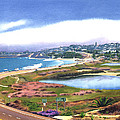 San Elijo and Hwy 101 Print by Mary Helmreich