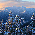 Snowy Mountain Landscape Poster by Pierre Leclerc Photography