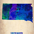 South Carolina Watercolor Map Poster by Irina  March