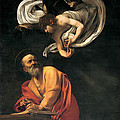 St. Matthew And The Angel, 1602 Poster by Michelangelo Merisi da Caravaggio