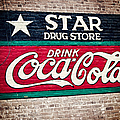 Star Drug Store Wall Sign Print by Scott Pellegrin