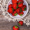 Strawberry vintage Print by Jane Rix