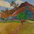 Tahitian Landscape Print by Paul Gauguin