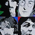 The Beatles Print by Nickie Mantlo