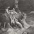 The Deluge Poster by Gustave Dore