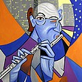 The Flutist Print by Anthony Falbo