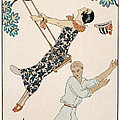 The Swing Print by Georges Barbier