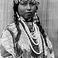 Tlakluit Indian woman circa 1910 Print by Aged Pixel