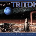 Travel to Triton Print by Tharsis  Artworks
