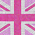 Union Jack pink Print by Jane Rix
