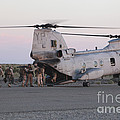 U.s. Marines Board A Ch-46 Sea Knight Poster by Stocktrek Images