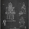 Vintage Toy Robot Patent Drawing from 1955 Print by Aged Pixel