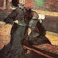 Visit to a Museum Poster by Edgar Degas