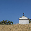White country church Print by David Litschel