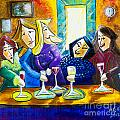 Wine Buddies The Last Call Print by Angela Nuttle