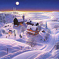 Winter on the Farm Print by Robin Moline