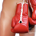Woman with Boxing Gloves Print by Oleksiy Maksymenko