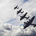 World War Two British vintage flight formation Poster by Matthew Gibson