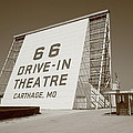 Route 66 - Drive-In Theatre Poster by Frank Romeo