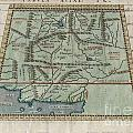 1597 Ptolemy  Magini  Keschedt Map of Pakistan Iran and Afghanistan Print by Paul Fearn
