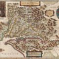 1630 Hondius Map of Virginia and the Chesapeake Print by Paul Fearn
