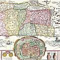1632 Tirinus Map of the Holy Land Print by Paul Fearn