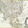 1770 Janvier Map of Asia Poster by Paul Fearn