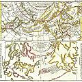 1772 Vaugondy Diderot Map of Alaska the Pacific Northwest and the Northwest Passage Print by Paul Fearn