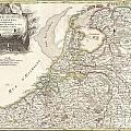 1775 Janvier Map of Holland and Belgium Print by Paul Fearn