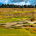 #18 at Chambers Bay Golf Course - Location of the 2015 U.S. Open Tournament Print by David Patterson