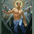 18. Jesus Rises / from The Passion of Christ - A Gay Vision Print by Douglas Blanchard