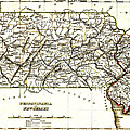 1835 Pennsylvania and New Jersey Map Poster by Bradford