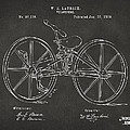 1869 Velocipede Bicycle Patent Artwork - Gray Poster by Nikki Marie Smith