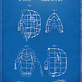 1878 Baseball Catchers Mask Patent - Blueprint Poster by Nikki Marie Smith