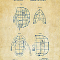 1878 Baseball Catchers Mask Patent - Vintage Poster by Nikki Marie Smith