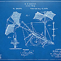 1879 Quinby Aerial Ship Patent - Blueprint Print by Nikki Marie Smith