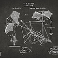 1879 Quinby Aerial Ship Patent - Gray Print by Nikki Marie Smith