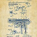 1911 Automatic Firearm Patent Artwork - Vintage Poster by Nikki Marie Smith