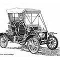 1911 Ford Model T Tin Lizzie Poster by Jack Pumphrey