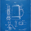 1914 Beer Stein Patent Artwork - Blueprint Print by Nikki Marie Smith