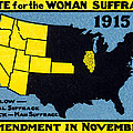 1915 Vote for Women's Suffrage Poster by Historic Image