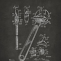 1915 Wrench Patent Artwork - Gray Print by Nikki Marie Smith