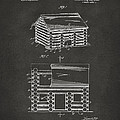 1920 Lincoln Logs Patent Artwork - Gray Print by Nikki Marie Smith