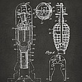 1921 Explosive Missle Patent Minimal Gray Print by Nikki Marie Smith