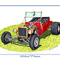 1923 Ford T Bucket Poster by Jack Pumphrey