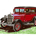 1928 Ford model A two door Poster by Jack Pumphrey