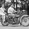1930s MOTORCYCLE TOURING Print by Daniel Hagerman
