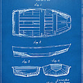 1938 Rowboat Patent Artwork - Blueprint Print by Nikki Marie Smith
