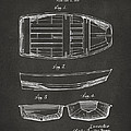 1938 Rowboat Patent Artwork - Gray Print by Nikki Marie Smith