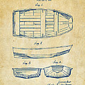1938 Rowboat Patent Artwork - Vintage Print by Nikki Marie Smith